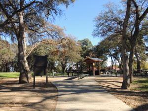 Sidewalk and Trees