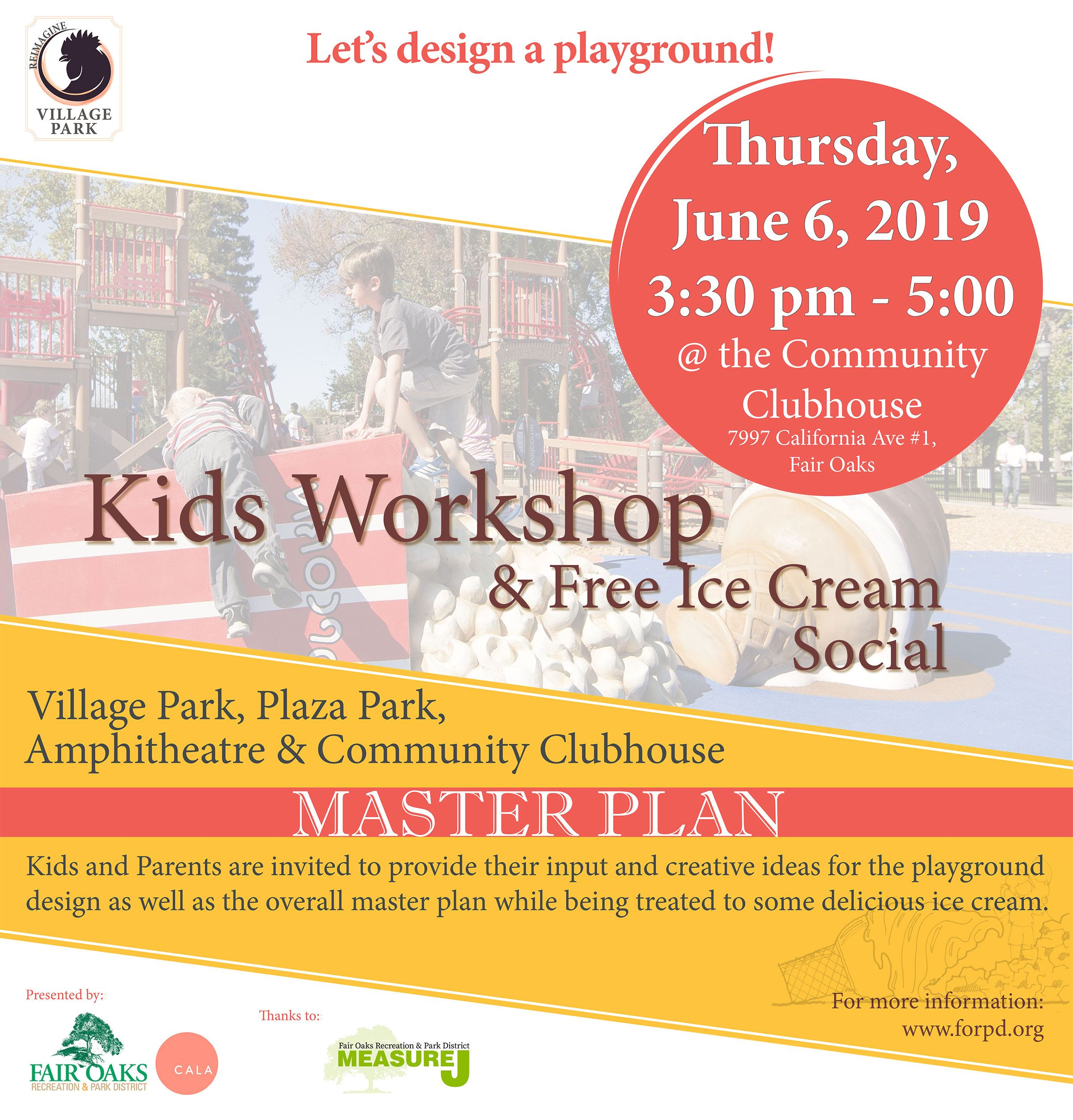Kid's Workshop and Ice Cream Social