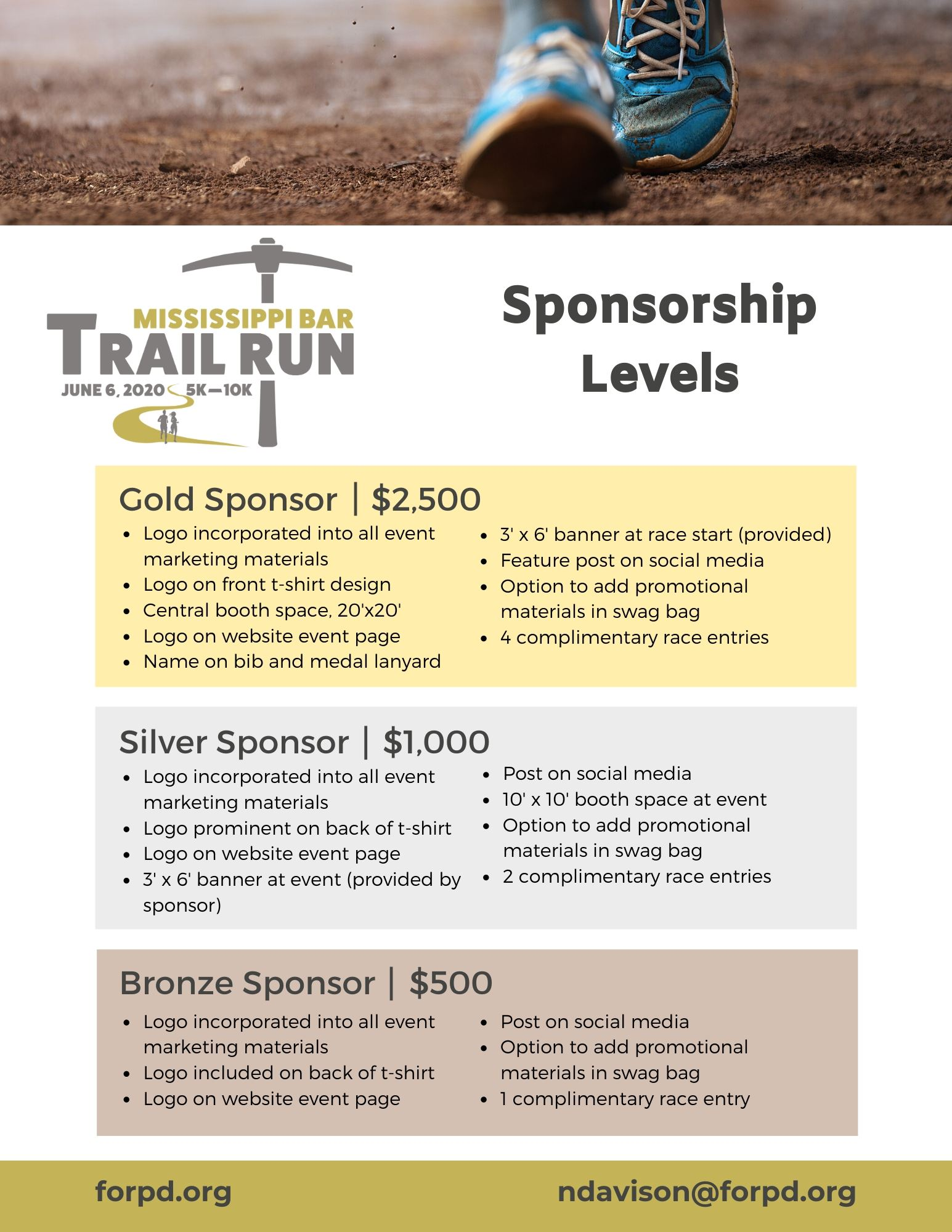 Mississippi Bar Trail Run Sponsorship Packet
